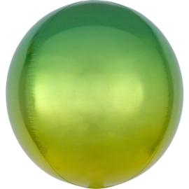 Omber Groen / Geel Orbz Ballon