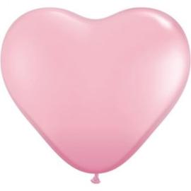 3ft (90cm) Harten ballon pink
