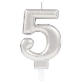 Cijferkaars Zilver nr. 5