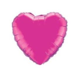 Folieballon hart fuchsia