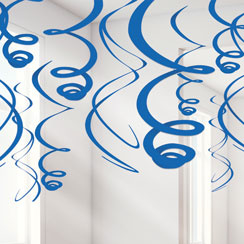 Hanging Swirls Blauw