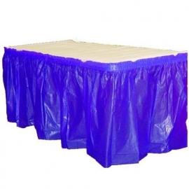 Plastic tafelrok kobal blauw