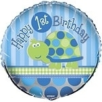 Turtle 1st Birthday Folie ballon