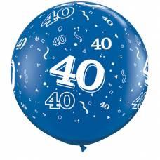 3ft (90cm) ballon cijfer 40 blauw