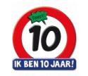 Verkeersbord Hoera 10 jaar