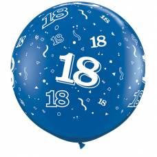 3ft (90cm) ballon cijfer 18 donkerblauw