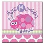 Ladybug 1st Birthday Servetten