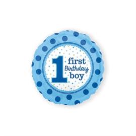 Folie ballon 1st birthday blauw