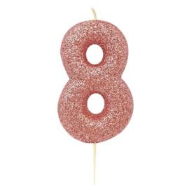 Cijferkaars Roze Goud nr. 8