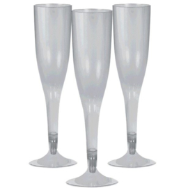 Plastic Champagneglazen Zilver