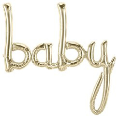 Gouden Tekst Baby Folie Ballon