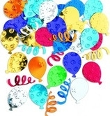 Party Balloon Metallic  Confetti Assortie