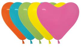 Harten ballonnen tropical assorment