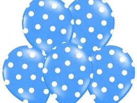 Pastel Blauw/Wit Dots Ballonnen