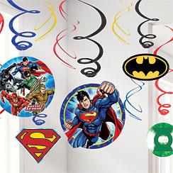 Justice League Hanging Swirls