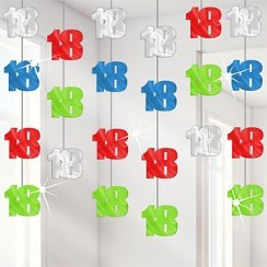 18th Birthday Hanging String Decoration