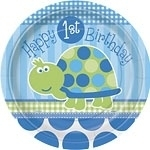 Turtle 1st Birthday Lunchborden
