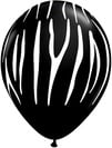 Zebra Stripes Onyx Black with White