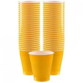 Amerikaanse Cups XL Donker Geel