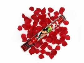 Confetti kanon Rode Rozenblaadjes
