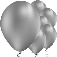 Chrome Ballonnen Zilver