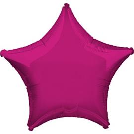 Folieballon ster magenta