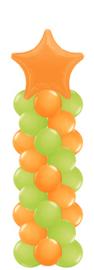 Ballonnenpilaar met folie ster