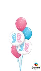 He Or She Ballonnenboeket
