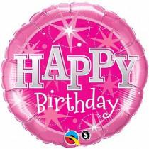 B-Day Pink Sprankle Supershape Folie Ballon