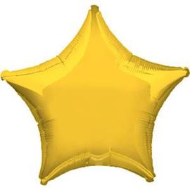 Folieballon ster geel