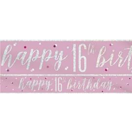 Pink Birthday Glitz Banner