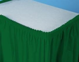 Plastic tafelrok donker groen