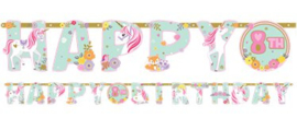 Magical Unicorn Letterslinger Happy Birthday
