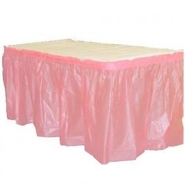 Plastic tafelrok  baby roze