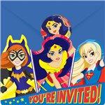 DC Super Hero Girls Uitnodigingskaarten