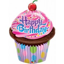 Happy B-Day Cupcake Supershape Folie Ballon