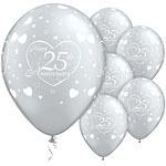 Ballonnen 50th anniversary zilver