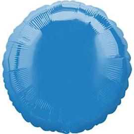 Folieballon rond blauw