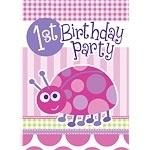 Ladybug 1st Birthday Uitnodiging