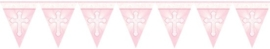 Radiant Cross Pink Flag Banner