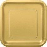 Kartonnen Bord Vierkant Goud