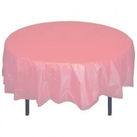 Ronde plastic tafelkleed  rose