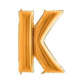 Folieballon letter K goud
