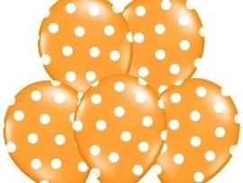 Pastel Oranje/Wit Ballonnen