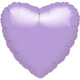 Folieballon hart lavendel