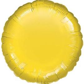 Folieballon rond geel