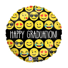 Emoji Happy Graduation Folie Ballon