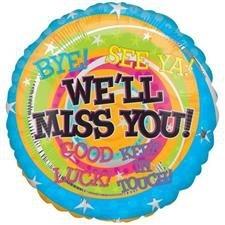 We'll Miss You Messages Foil Ballon