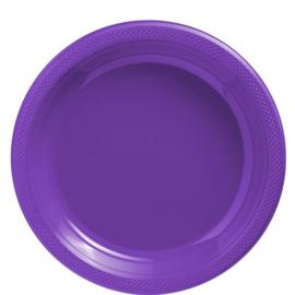 Plastic Dessert en Lunchbord  Paars