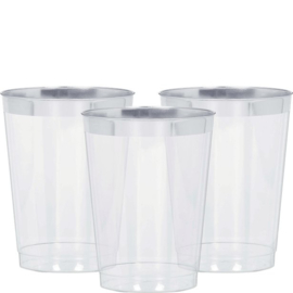 Plastic Limondaglazaen Met Zilvere Rand